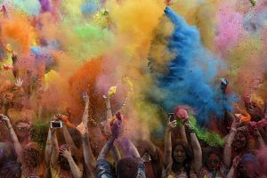 Holi Festival of Colours am 18. Juli 2015 auf der Donauinsel in Wien