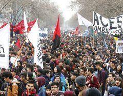 Wieder protestieren Studenten in Chile