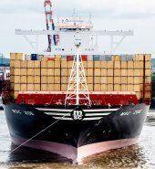 Größtes Containerschiff der Welt in Hamburg getauft