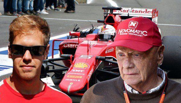 Zoff in der Formel-1 zwischen Sebastian Vettel und Niki Lauda.