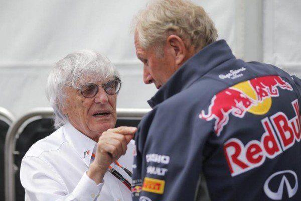 Motorsportberater Helmut Marko mit F1-Boss Ecclestone