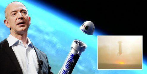 Amazon-Chef Bezos gelingt Test von wiederverwendbarer Rakete