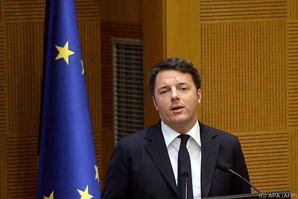 Premier Renzi lässt 300 Mio. Euro springen