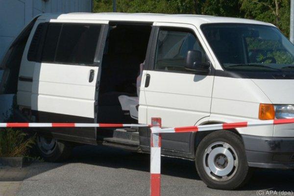 In diesem Transporter fuhren die Terroristen