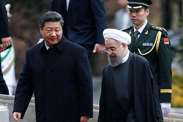 Xi Jinping zu Besuch bei Rohani