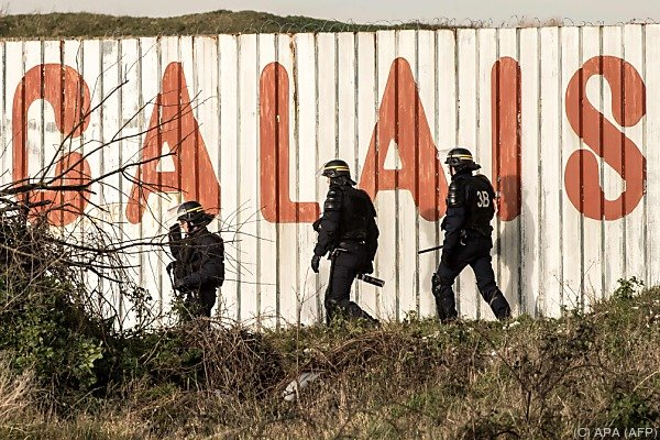 Polizeieinsatz in Calais