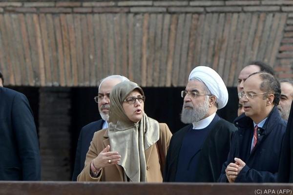 Irans Staatschef Rohani genoss die italienische Gastfreundschaft