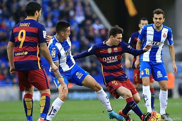 Starsturm des FC Barcelona blieb im Derby ohne Torerfolg