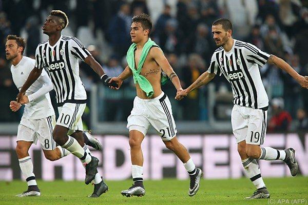 Juve-Stars feiern 3:0-Heimsieg gegen Schlusslicht Hellas Verona