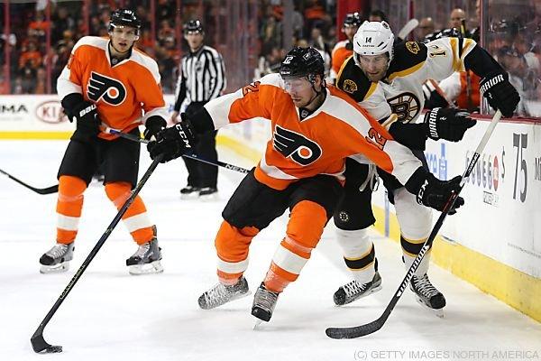 Raffl musste sich mit den Flyers Boston 2:3 geschlagen geben