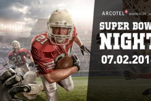 Super Bowl Party am 7. Februar 2016 im Arcotel Wimberger