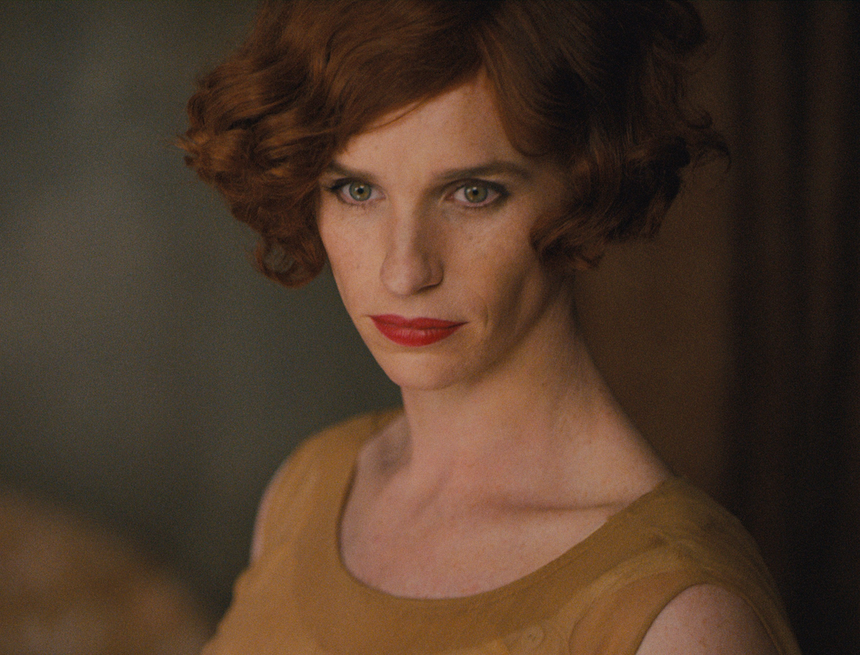 "This photo provided by Focus Features shows, Eddie Redmayne as Lili Elbe, in Tom Hooperís ""The Danish Girl."" The Hollywood blacklist drama ""Trumbo"" scored a leading three Screen Actors Guild Awards nominations, Wednesday, but it was sleeper contenders ""Beasts of No Nation"" and ""Straight Outta Compton"" that entered the awards conversation in a real way when both were nominated for best ensemble drama. The lead actor nominees were a bit more expected, with recognition for Bryan Cranston (""Trumbo""), Johnny Depp (""Black Mass""), Leonardo DiCaprio (""The Revenant""), Michael Fassbender (""Steve Jobs""), and Redmayne (""The Danish Girl""). (Focus Features via AP)"