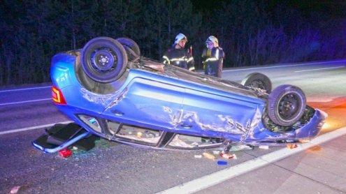 Pkw überschlug sich mehrmals: Schwerer Verkehrsunfall auf A2