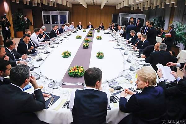 Gipfel der Staats- und Regierungschefs in Brüssel