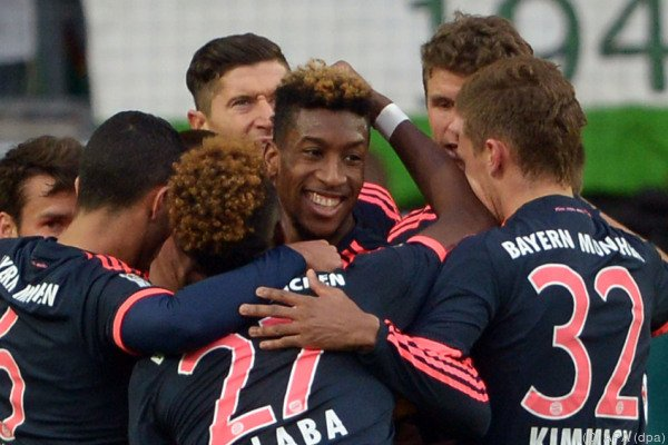 Kingsley Coman gefeierter Toschütze zum 1:0 für den FCB