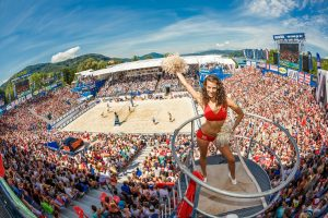 Boarding-Pass-Verlosung zum Beach Volleyball Major Klagenfurt 2016