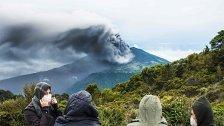 Ausbruch von Vulkan Turrialba in Costa Rica