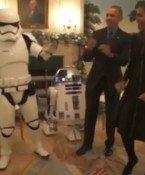 Obamas tanzten mit R2-D2 und Stormtrooper
