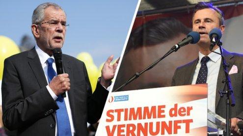 Die Wahlkampfabschlüsse von Van der Bellen und Hofer in Wien