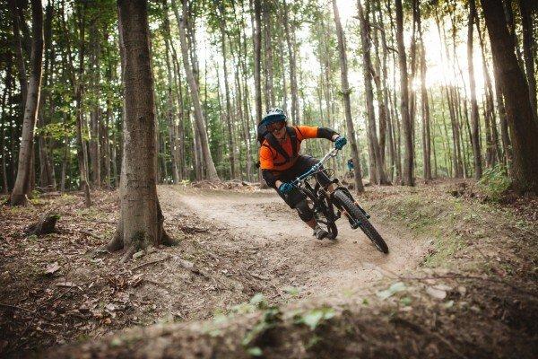 Neuer Mountainbike-Trail im Wienerwald.