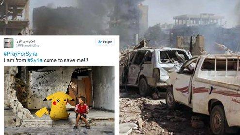 Bewegend: Syrische Kinder bitten mit Pokémon-Bildern um Hilfe