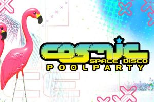 Cosmic-Poolparty mit Ace Ventura in der Pratersauna