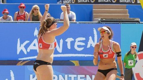 Austrias Beachvolleyball-Damen starten mit Sieg und Niederlagen