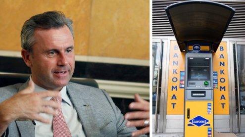 FPÖ-Kandidat Hofer schießt gegen Bankomatgebühren