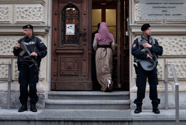 Unter strengsten Sicherheitsvorkehrungen fand der Prozess in Graz statt