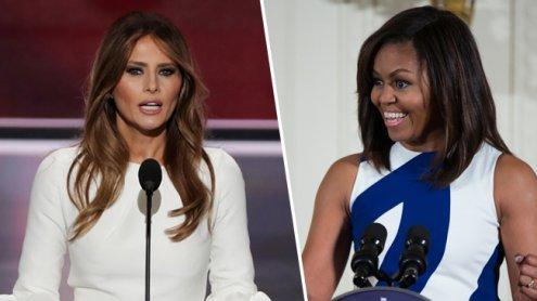 Peinlich: Melania Trump schreibt von Michelle Obama ab
