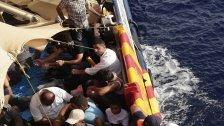 Rückführung von im Meer geretteten Flüchtlingen