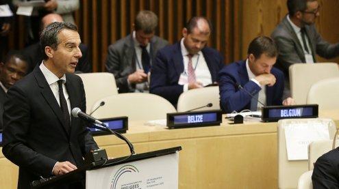 """Kanzler Kern schlägt in New York """"Marshall Plan for Africa"""" vor"""