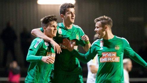 Rapid Wien rehabilitiert sich mit 4:0-Sieg im Cup - Sturm Graz out