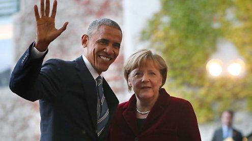 Merkel und Obama beschworen Zusammenhalt westlicher Welt