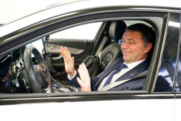 Verkehrsminister Leichtfried war bei den Tests dabei