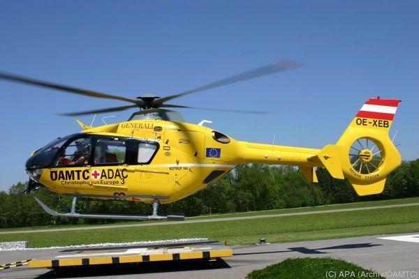 Der ÖAMTC musste mit einem Hubschrauber ausrücken