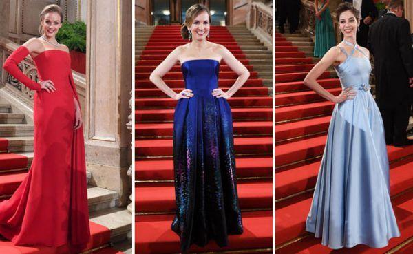 Viele elegante Kleider gab es auch heuer wieder am Opernball.