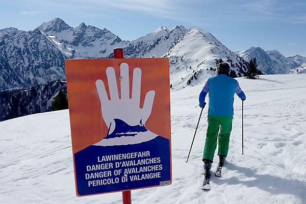Von Skitouren wird abgeraten