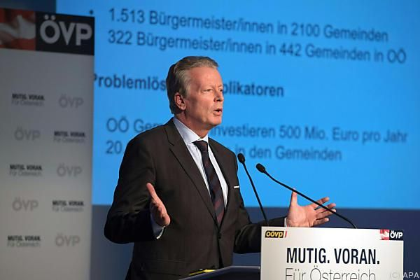 Mitterlehner auf der ÖVP-Bürgermeister-Konferenz