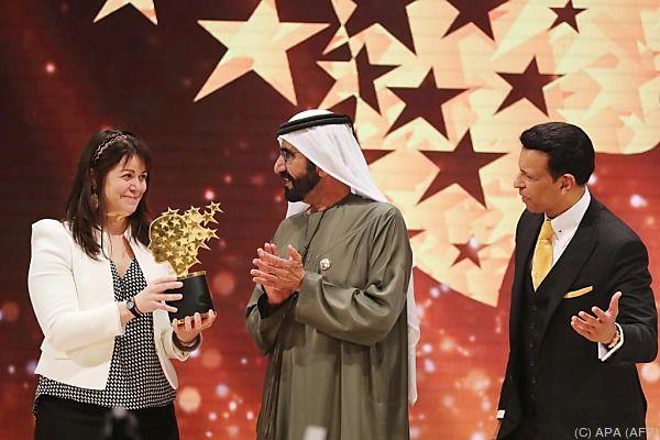 Die Kanadierin erhielt den Preis in Dubai
