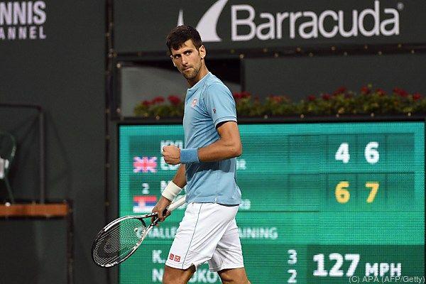 Djokovic warf Kyle Edmund aus dem Turnier