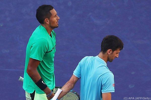 Kyrgios überraschend gegen Djokovic siegreich