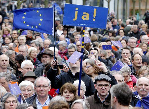 """Bei """"Pulse of Europe"""" wurde für ein vereintes Europa demonstriert"""