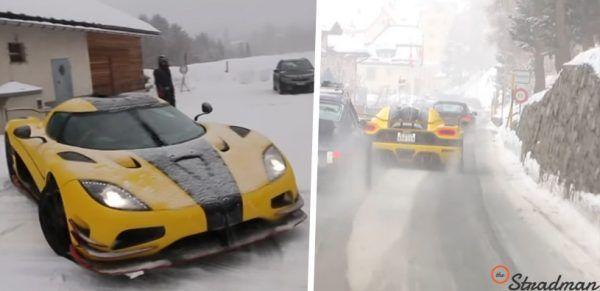 Mit einem 1175 PS-Koenigsegg durch die Schweizer Alpen: Kein Winterauto