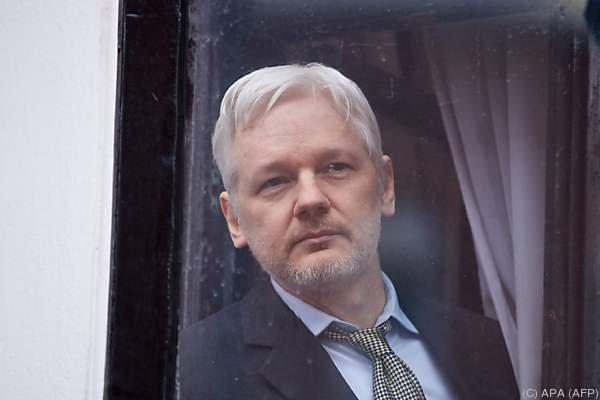 Assange lebt seit 2012 in der Botschaft Ecuadors in London