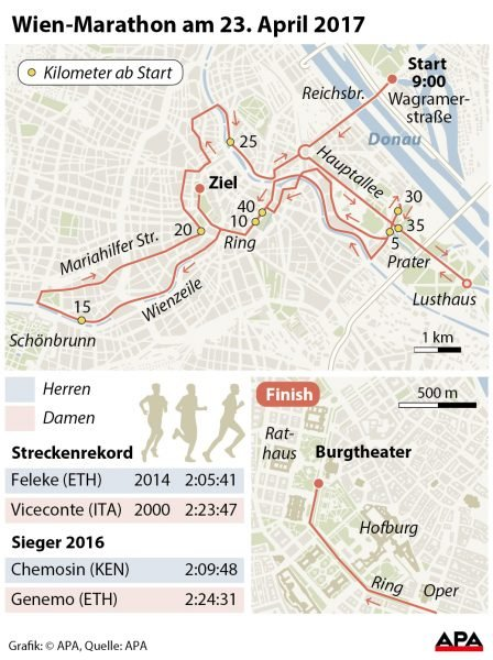 Wien-Marathon am 23. April