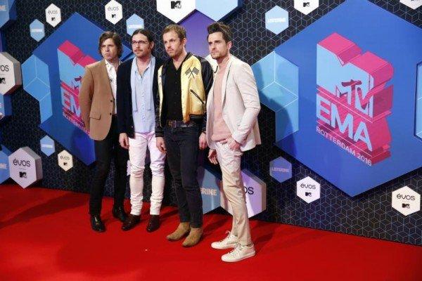 Im Bild: Die Kings of Leon bei den MTV European Music Awards 2016 in Rotterdam.