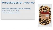 """""""Cashew-Cranberry-Mix"""" bei Lidl zurückgerufen"""