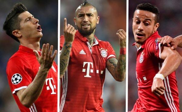 Robert Lewandowski, Arturo Vidal und Thiago sollen nach dem CL-Viertelfinale in Madrid die Kabine des Referees gestürmt haben.