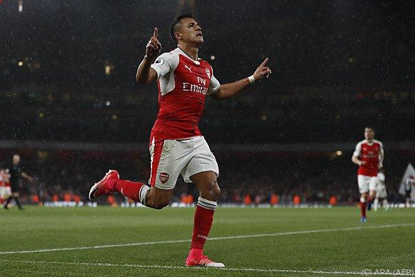 Arsenals Alexis Sanchez traf doppelt